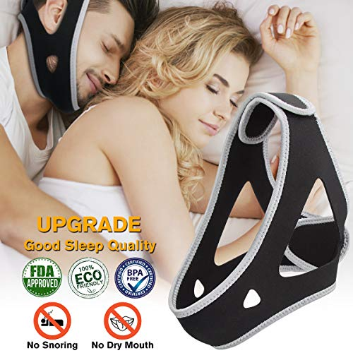 Anti Snoring Chin Strap, Snoring Solution and Anti Snoring Devices, Snoring Chin Strap for Sleep, Adjustable and Flexible Snore Chin Strap for Sleeping, Stop Snoring Devices for Men Women Kids (Best Anti Snoring Chin Strap)