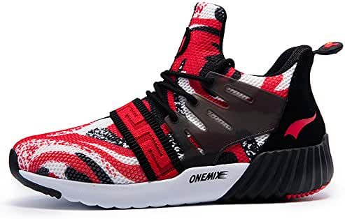 Onemix Men's Lightweight Sport Running Shoes Breathable Sport Sneakers
