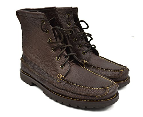 Brooks Brothers Men's Casual Hunting Bison Leather Boots Brown 9.5 - Mens Brothers Shoes Brooks