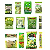 Japanese ''Matcha flavor Set'' 14 packs of snacks, sweets and candies