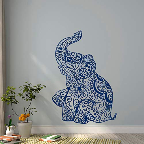 Xbwy Elephant Yoga Tatuajes De Pared Indie Wall Art Design ...