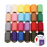 MILIJIA Sewing Threads, 24 Colors Polyester Thread, 1000 Yards Each Spools, Sewing Kits for Hand & Most Sewing Machine