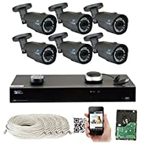 8 Channel H.265 4K NVR 4MP 1520p POE IP Camera System Wired, 6 x Varifocal Zoom 2.8-12mm Outdoor Indoor Security Camera - H.265 (Double recording data and enhance picture quality compared to H.264)