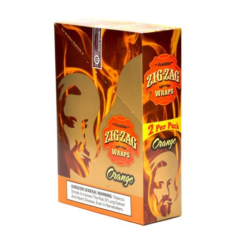 2 PER PACK ORANGE FLAVOR PACK OF 25 (Royal Blunts Wraps)