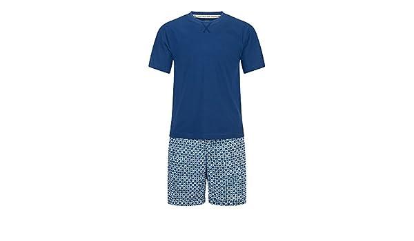 Veraluna Shibori, Conjuntos de Pijama para Hombre, Azul (Atlántico), Large (Tamaño del Fabricante:L): Amazon.es: Ropa y accesorios