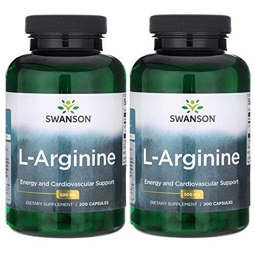 Swanson Amino Acid L-Arginine 500 Milligrams 400 Capsules by Swanson