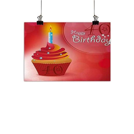 Josepsh 40th cumpleaños Pintura decorativaJoyful ocasión ...