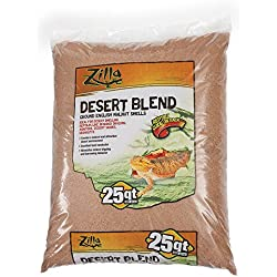 Zilla 11763 Ground English Walnut Shells Desert Blend, 25-Quart Bag