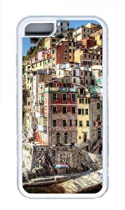 iPhone 5c Case, iPhone 5c Cases -Hdr Riomaggiore Italy TPU Rubber Soft Case Back Cover for iPhone 5C¨C White