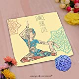 VROSELV Custom Cotton Microfiber Ultra Soft Hand Towel-Beautiful dance for life Custom pattern of household products(14''x14'')