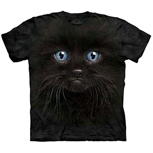 The Mountain Unisex Kinder Schwarzes K�tzchengesicht T Shirt