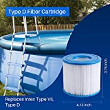 POOLPURE Summer Escapes Replacement Filter for Type D, Summer Waves P57100102, 4 Pack