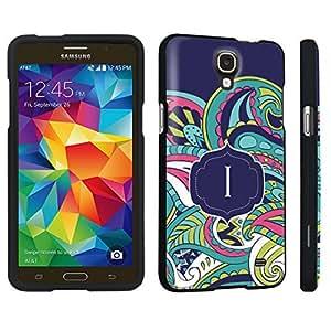 DuroCase ? Samsung Galaxy Mega 2 Hard Case Black - (Mint Flower Monogram I)