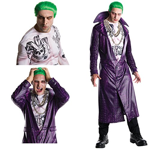 Suicide Squad: Joker Deluxe Adult Costume Bundle Set - Standard