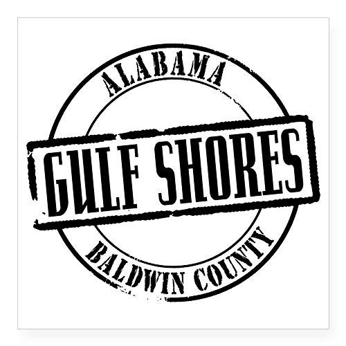 CafePress - Gulf Shores Title W Square Sticker 3