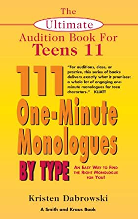 2 minute monologues + young adult + audition