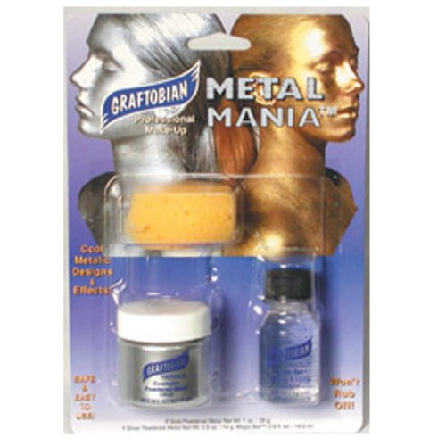 [Graftobian Metal Mania Kit - Silver 1 Ounce] (Special Effects Makeup Kit)