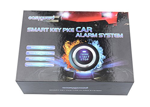 EASYGUARD EC002 K NS Intelligent Car Alarm Kit With Passive Keyless Entry Automatically Lock Unlock Car Door Remote Start Push Start And Touch Password Entry Shock Sensor