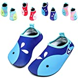 Kids Swim Water Shoes Girls Boys Lightweight Barefoot skin Shoes Mutifunctional Beach Pool Aqua Socks for Toddler Little Kid and Big Kid (Navy-20/21)