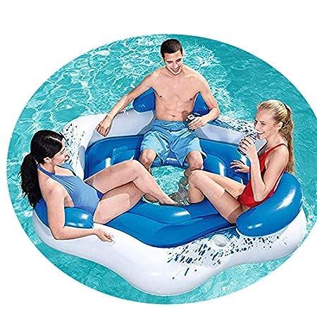 LDIUY Agua Silla Inflable Flotante Fila Isla Sombrilla Barco ...