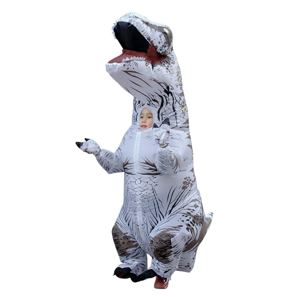 White Height 4760  Famico Inflatable Dinosaur Costume for Kids Adult Halloween Dress Up