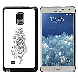 Caucho caso de Shell duro de la cubierta de accesorios de protección BY RAYDREAMMM - Samsung Galaxy Mega 5.8 - Vikingo Princesa