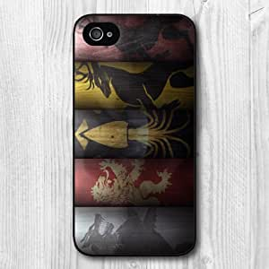 New Fashion Design Game Of Thrones Pattern Protective Hard Phone Cover Skin Case For iPhone 4 4s +Screen Protector