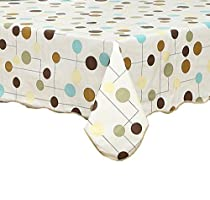 Ennas Cz156 Flannel Backed Vinyl Tablecloth Waterproof Oblong(rectangle) (60-Inch by 90-Inch oblong(rectangle))