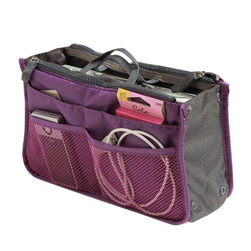 SAVFY Ladies Tidy Travel Insert Handbag Cosmetic Organiser Purse Large...