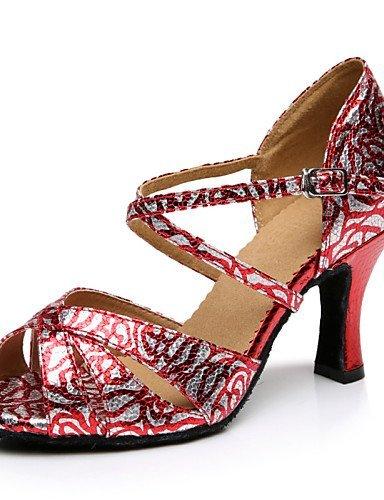 ShangYi Chaussures de danse(Rouge) -Personnalisables-Talon Aiguille-Similicuir-Latine , red-us8 / eu39 / uk6 / cn39 , red-us8 / eu39 / uk6 / cn39