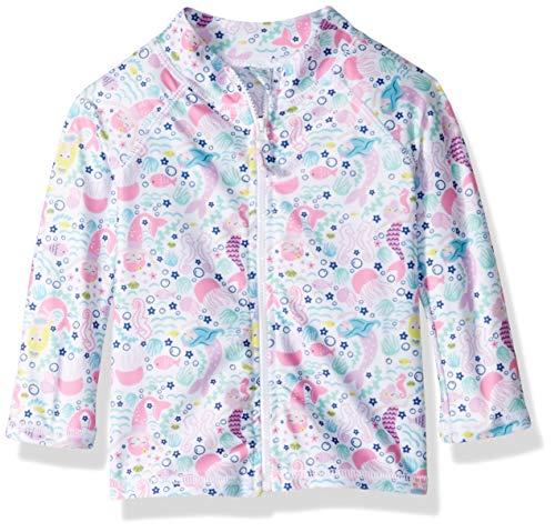 Flap Clothes Happy - Flap Happy Baby Girls UPF 50+ Zip Front Swim Jacket, Malibu Mermaid, 24M