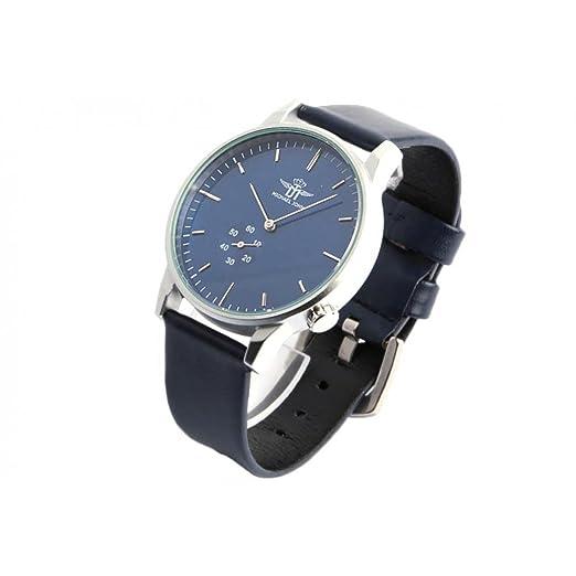 Michael John - Reloj de pulsera, moderno, hombre, color azul: Amazon.es: Relojes