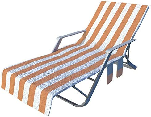 Funda para silla de playa o tumbona larga para tumbona, terraza con bolsillos laterales, tumbona, tumbona, piscina o jardín: Amazon.es: Hogar