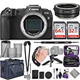 Canon EOS RP Mirrorless Digital Camera Body + Canon EF-EOS R Mount Adapter with Altura Photo Complete Accessory and Travel Bundle