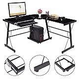 Tangkula-L-Shape-Computer-Desk-PC-Laptop-Table-Glass-Top-Workstation