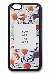 Beautiful Flowers 04 Slim Soft Cover for iPhone 6 Case (4.7 inch) TPU Black Cases