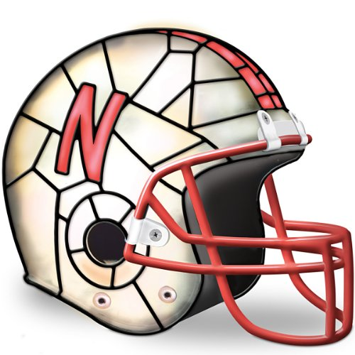 University Of Nebraska Huskers Accent Lamp by The Bradford - Stained Glass Table Game State