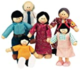Small World Toys Ryan's Room Wood Doll House -Family Affair Asian-American Doll Family