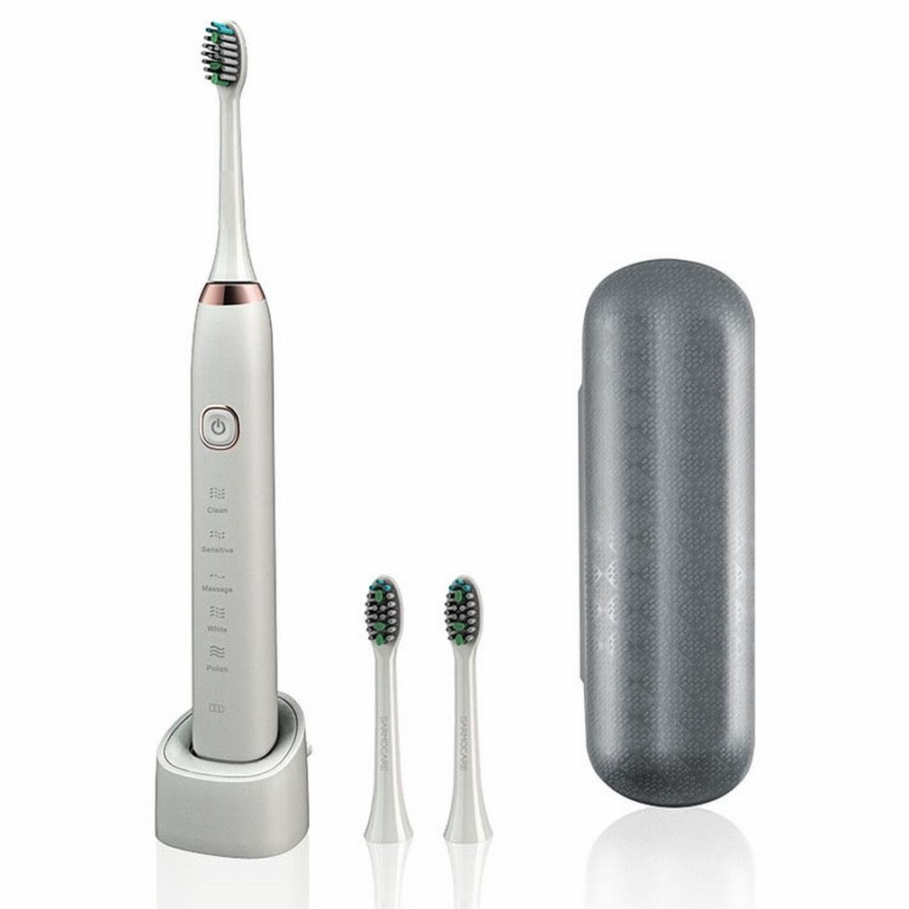 PLLP Electric Toothbrush Clean Teeth Whitening Induction Charge Ultrasonic Adult Electric Toothbrush. Comfortable, Fresh Breath,White,25 3cm