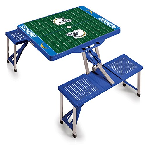 NFL Los Angeles Chargers Portable Picnic Table Sport with Seats, Blue by PICNIC TIME