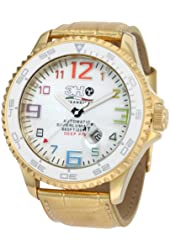 3H Men's T6WC Titanium Black PVD Automatic Divers Jumbo Dial Interchangeable Band Watch