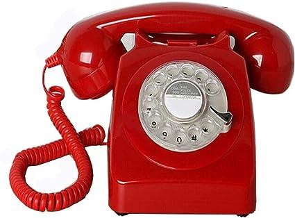 XILE téléphone rouge fixe Retro: Amazon.fr: Fournitures de bureau