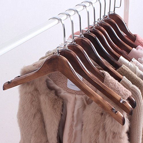 Solid wood Retro hangers/wooden wardrobe clothes hanging/shirt drying racks/carbon baking color, fashion by Drying clothes rack (Image #2)