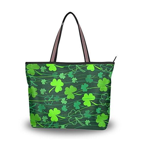 Tote Top Handle Laptop Shoulder Bag Happy St Patrick's Day Handbag for Women - 17.7x13x5.1in - by Top - Sunglasses Sale Wonderland