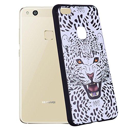 Color patrón TPU suave nuevo caso para Huawei P10 Lite ( Color : Arrow ) Leopard