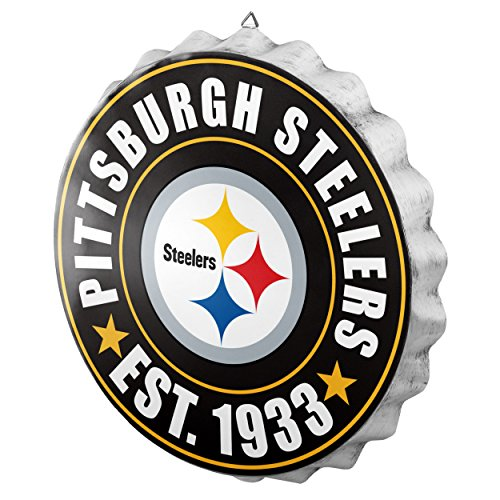 Pittsburgh Steelers Collectibles (FOCO Pittsburgh Steelers 2016 Bottle Cap Wall Sign)