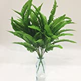 Artificial Plants Artfen 2pcs Persian Leaves Artificial Shrubs Leaves Faux Shrubs Simulation Greenery Bushes Artificial Flower Home Garden Office Verandah Wedding Decor 17 inch high