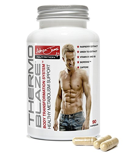 Adrian James Nutrition – Thermoblaze Weight Management Supplement, Advanced Thermogenic Fat Burner for Men and Women, 90 Capsules