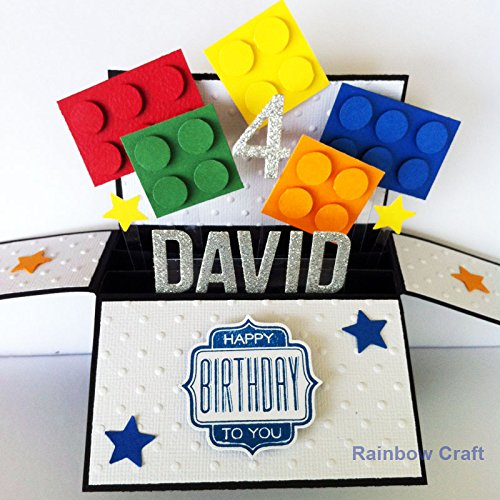 Name Age Personalised Birthday Card Funny Kids Happy Boyfriend Handmade For Him Lego