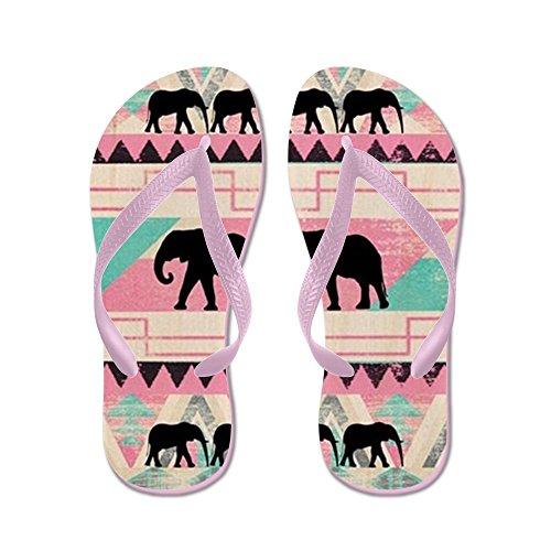CafePress Aztec Elephant - Flip Flops, Funny Thong Sandals, Beach Sandals Pink